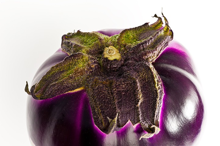 eggplant purple detail